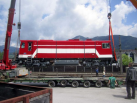 Arrival of the new diesel locomotive, May 2012